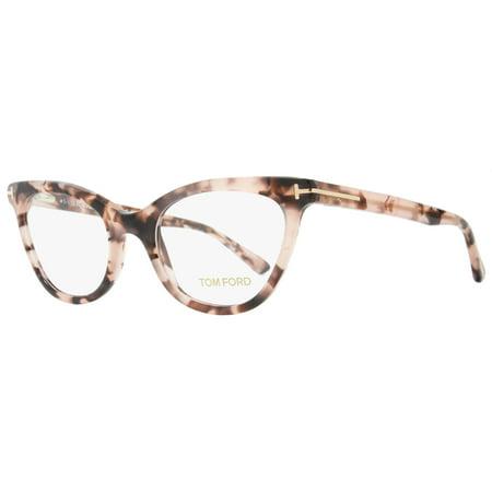 2aeaf6fa6a3aa Tom Ford Cateye Eyeglasses TF5271 074 Size  49mm Rose Vintage Havana FT5271  - Walmart.com