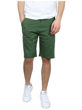 Men's 5-Pocket Flat-Front Stretch Chino Shorts (Size 30-42)