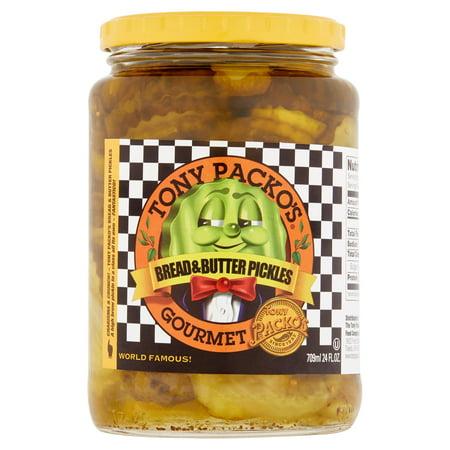 ((2 Pack) Tony Packo's Gourmet Bread & Butter Pickles, 24 fl oz)