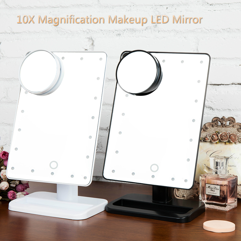 Ovonni 10X Magnifier LED Touch Screen Makeup Mirror   Walmart.com