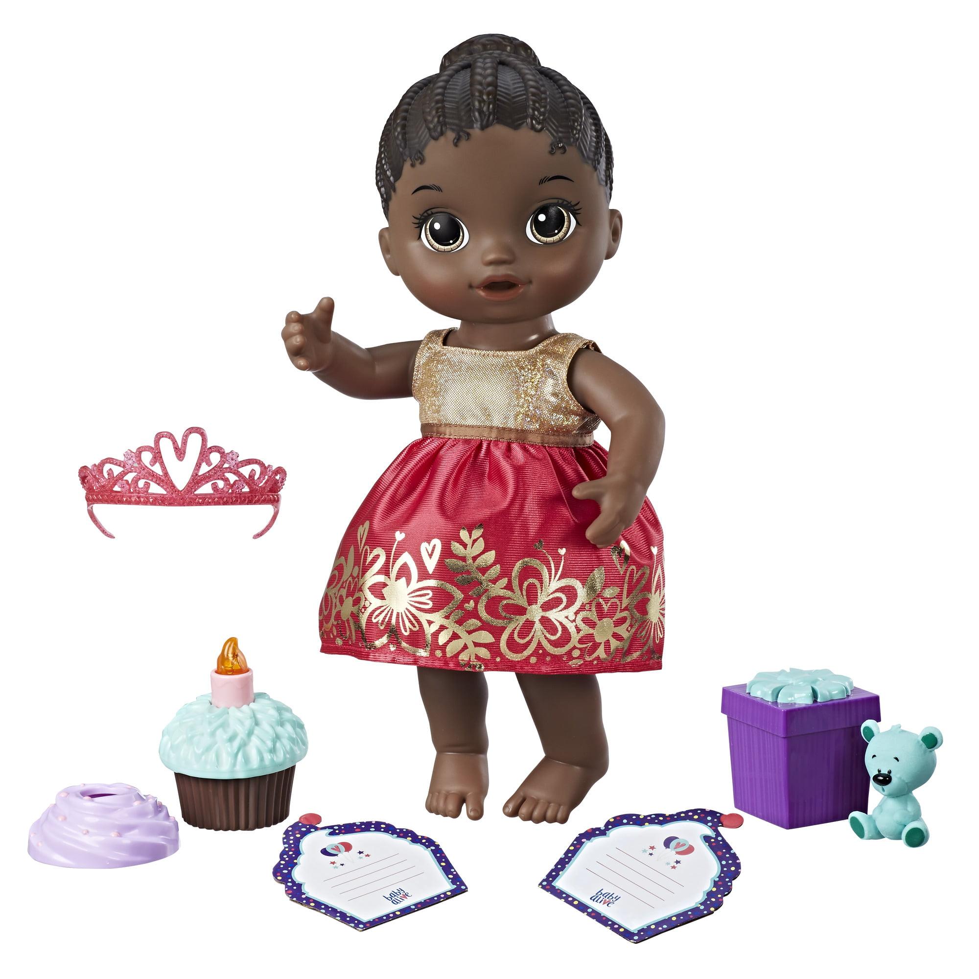Baby Alive Cupcake Birthday Baby Black Hair Walmart Com