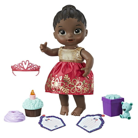 Baby Alive Cupcake Birthday Baby- Black Hair - Black Baby Doll
