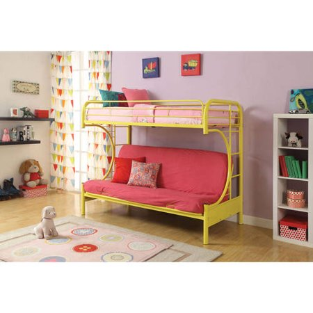 eclipse twin over futon metal bunk bed multiple colors walmartcom - Bunk Bed Frame
