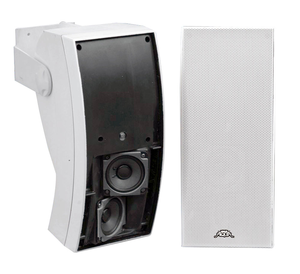 Pyle PLMR64W 5-in 3 Way Indoor/outdoor Water Proof Wall Mount Speaker System [white]