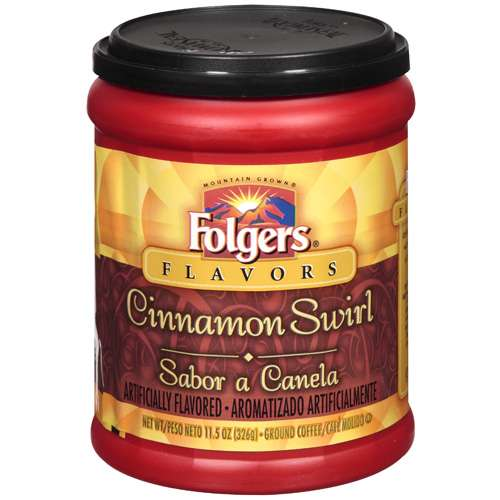 Folgers Cinnamon Swirl Ground Coffee, 11.5 oz