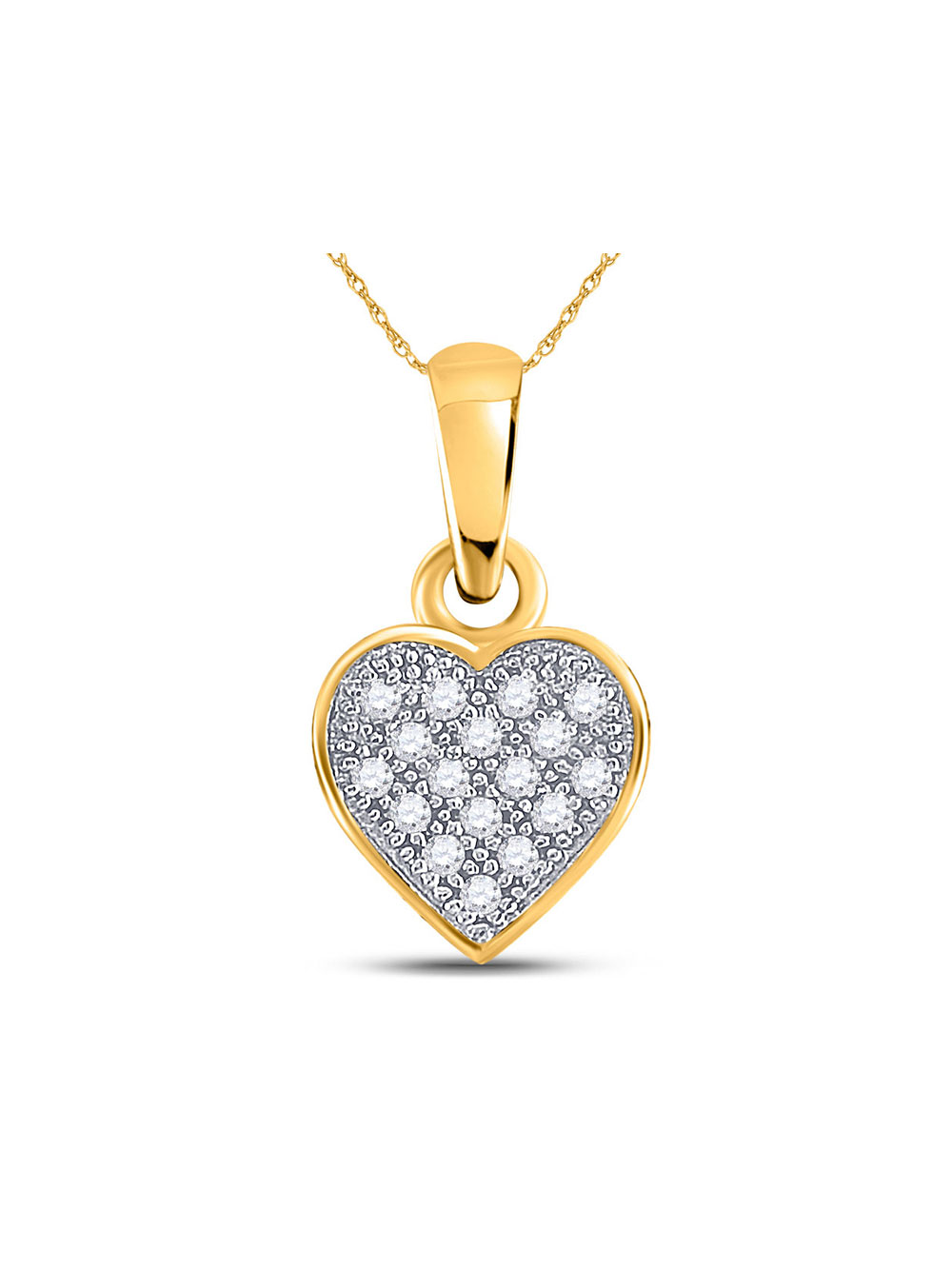 FB Jewels 14K White and Yellow Two Tone Gold Double Dolphins 2D and High Polish Pendant
