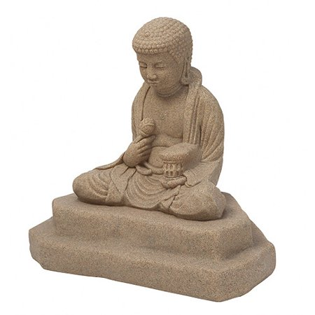 Emsco Group 2220 1 Meditating Buddha Outdoor Statue  Sand