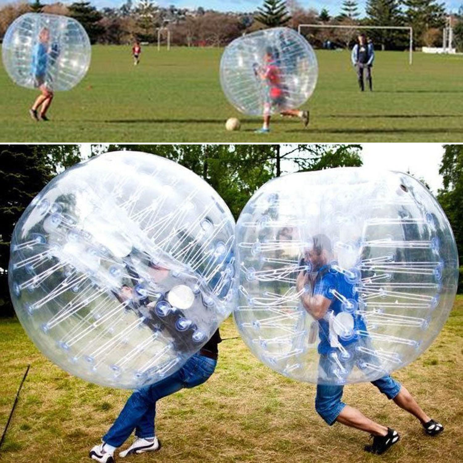 5FT PVC Inflatable Sumo ball Transparent Bumper Balls Body knocker Bubble Soccer zorb ball... by