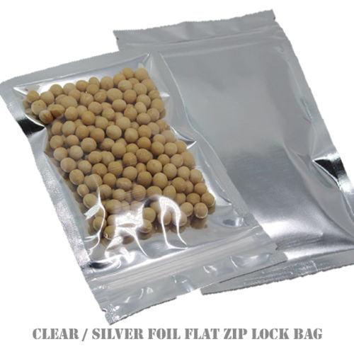 MTP 100X Flat Style Clear/ Silver Aluminium Foil Reusable...