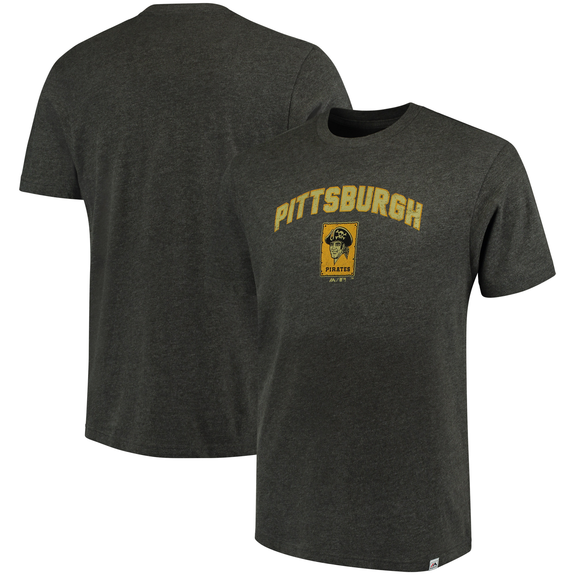 Pittsburgh Pirates Majestic Cooperstown Collection Eephus Pitch Softhand T-Shirt - Gray