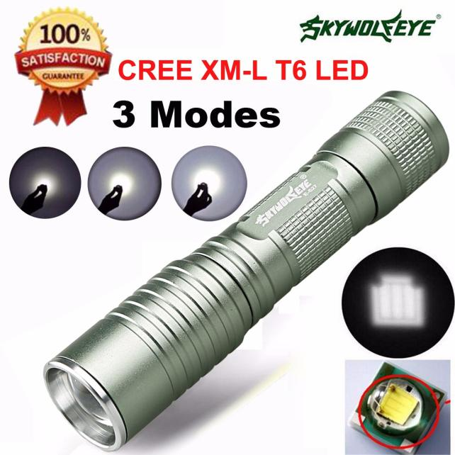 Focus 4000 Lumens 3 Modes CREE XML T6 LED 14500/AA Torch Lamp