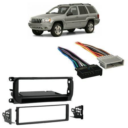 Fits Jeep Grand Cherokee 1999-2001 Single DIN Harness Radio Install Dash (2003 Jeep Grand Cherokee Engine Wiring Harness)