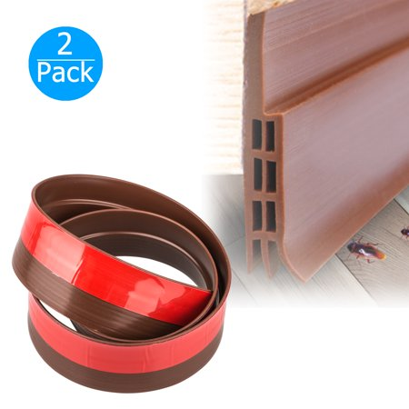 2-pack Door Sweep Weather Stripping Under Door Draft Stopper Direct Energy Saver for Door Sweep Bottom Seal, 35.6in x 1.73inch (Length x Width)