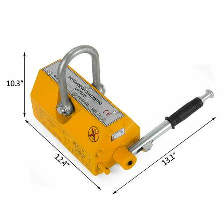 VEVOR Steel Magnetic Lifter 1000KG Metal Lifting Magnet 2200 LB Magnetic Lift Hoist Shop Crane