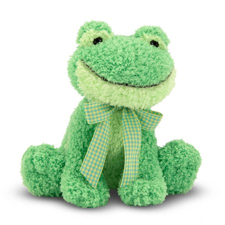 Melissa   Doug Princess Soft Toys Meadow Medley Froggy Stuffed Animal With Ribbit Sound Effect