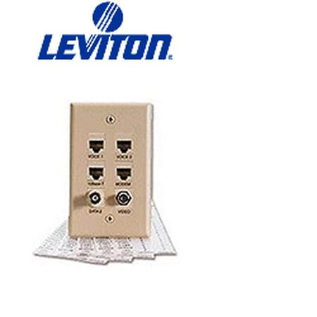 Leviton 41080-LEB Pre-Printed Port Designation Labels - Black - Port Label