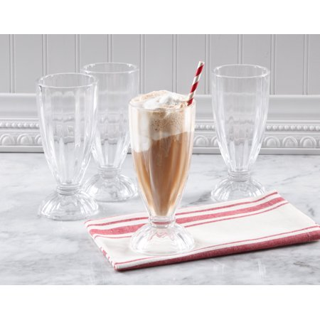Gibson Home Spencer 13-Ounce Milk Shake Glass Set, Set of 4 (Glass Milk)