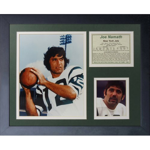 Legends Never Die New York Jets Joe Namath Portrait Framed Memorabili