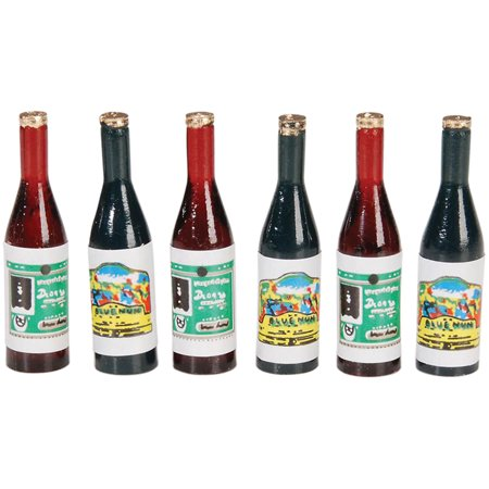 Art Deco Bottle - Timeless Miniatures   Wine Bottles 6/Pkg