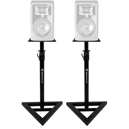 2) Rockville Adjustable Studio Monitor Speaker Stands For JBL 305P MKII (Studio Monitor Stand)