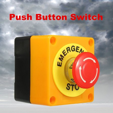 Red Sign Emergency Stop Switch Push Button Weatherproof Push Button Switch