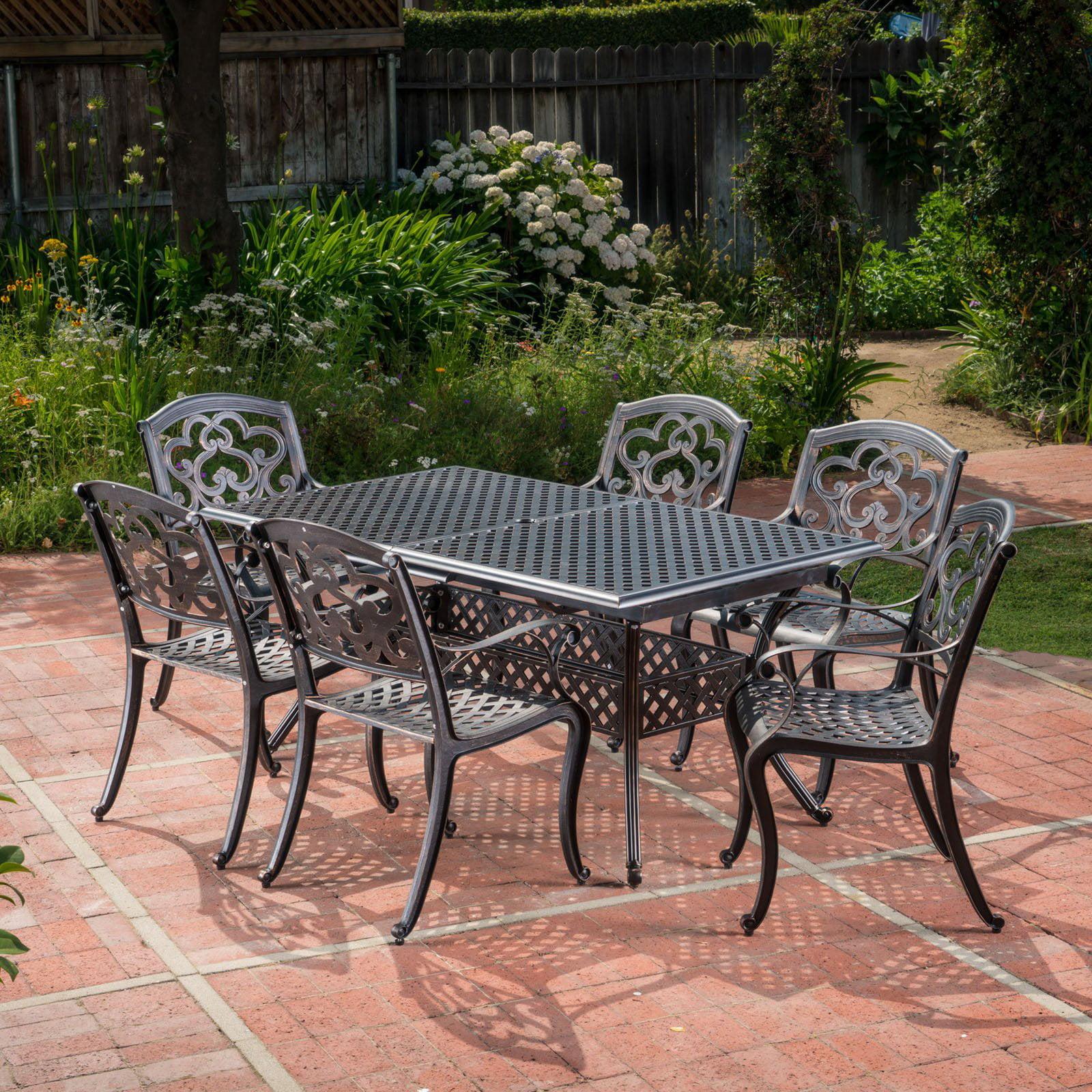 Abigal Aluminum 7 Piece Outdoor Dining Set