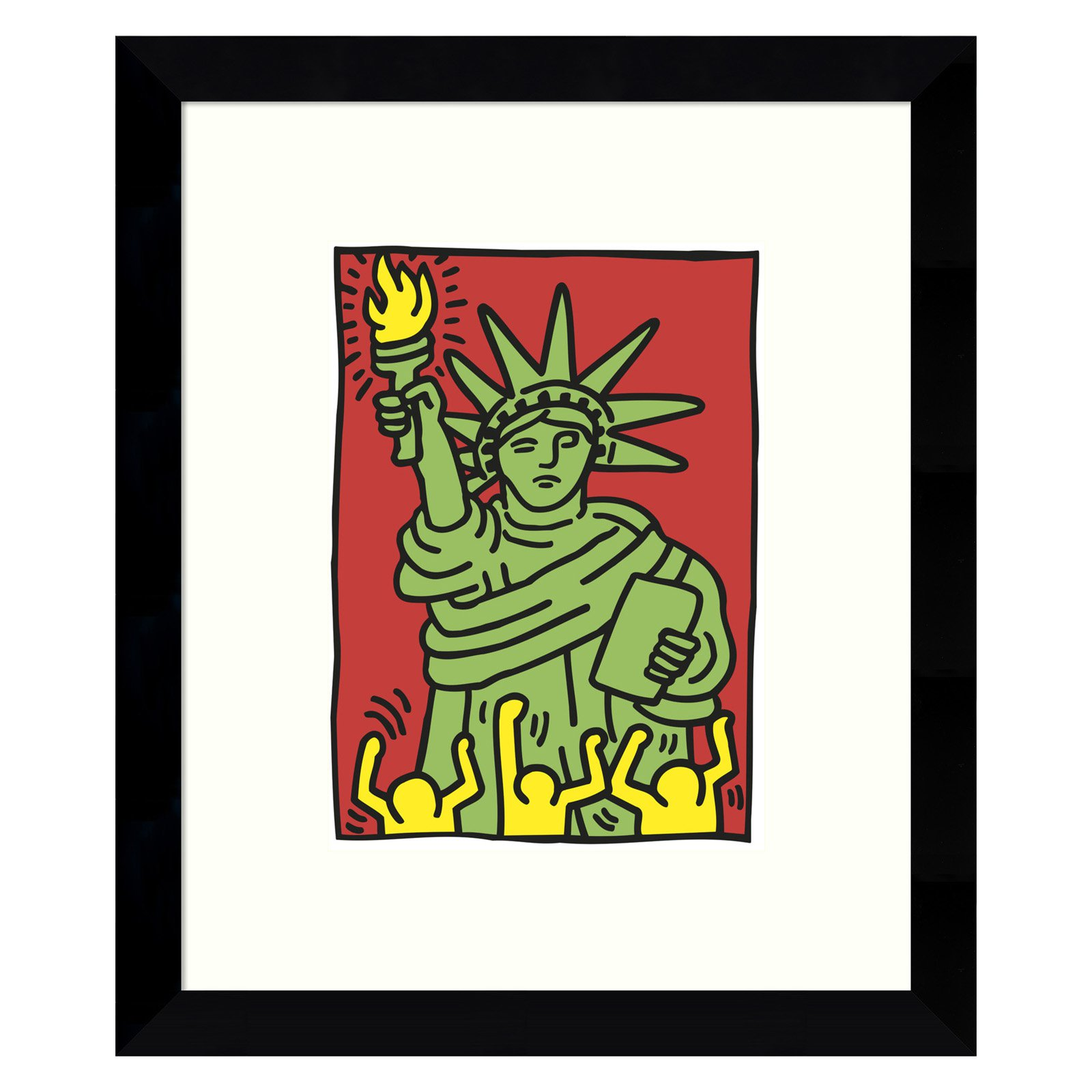 Amanti Art Framed Print - Statue of Liberty 1986 by Keith Haring