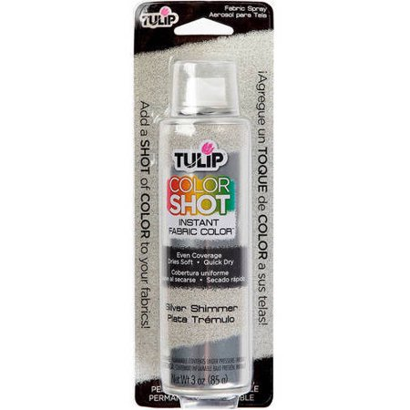 Tulip Metallic Silver Fabric Spray Paint, 3 Oz.