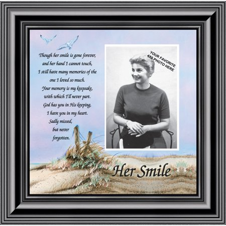 Personalized Photo (Her Smile, Remembrance of Mother, In Memory Gifts Personalized Picture Frame, 10x10)