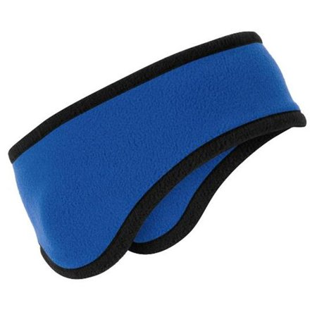 Port Authority® Two-Color Fleece Headband. C916 Royal Osfa - image 1 of 1