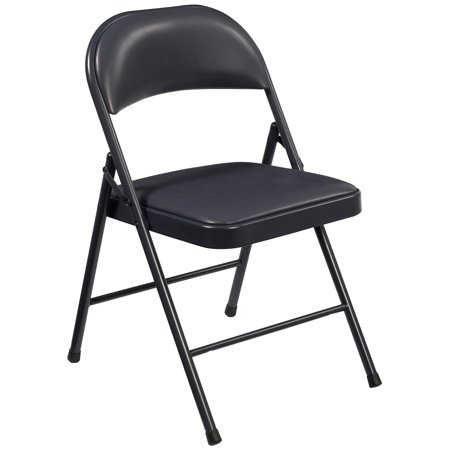 National Public Seating Commercialine Vinyl Padded Folding Chairs - 4 Pack