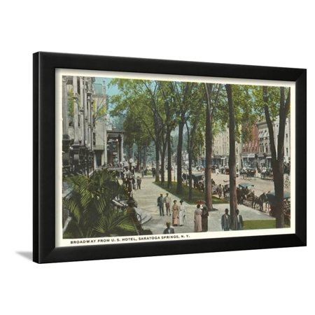 Broadway, Saratoga Springs, New York Framed Print Wall Art ()