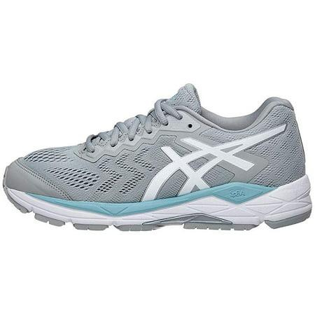 ASICS Women's Gel Fortitude 8 Running Shoe, Mid GreyWhiteBlue, 10.5 W US