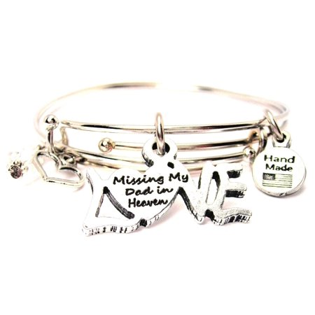 chubby chico charms missing my dad in heaven expandable bangle