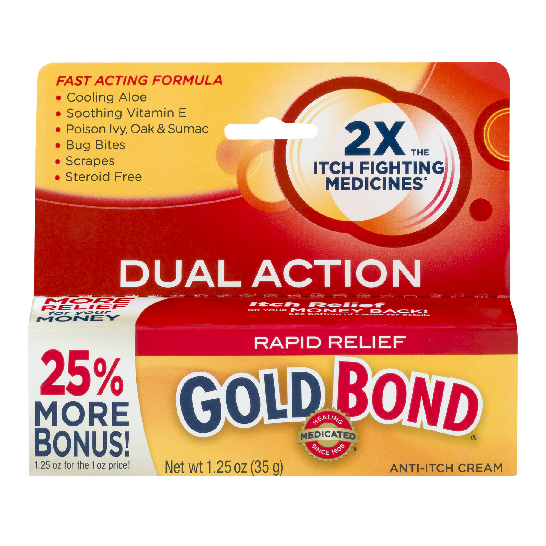 Gold Bond Rapid Relief Anti-Itch Cream, 1.25 OZ