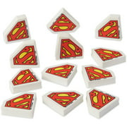 Superman Party Favor Erasers, 12ct