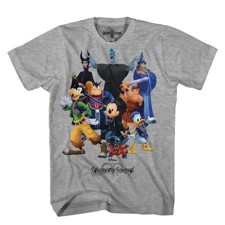 Kingdom Hearts King Mash Graphic Heather T-Shirt | M (Kingdom Hearts Mad Engine)