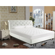 250-Thread Count Luxury Quilted Cotton Mattress Pad by Newpoint, Twin
