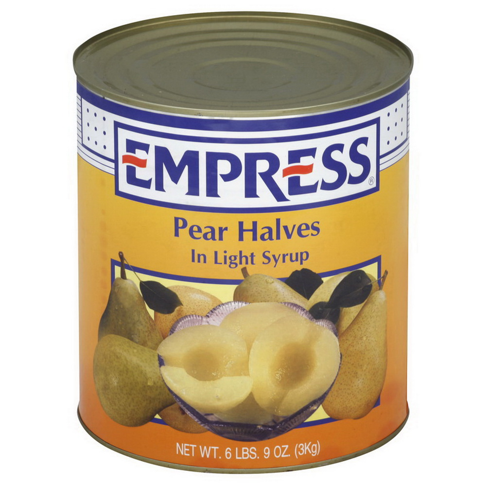 Savor 9124 Pear Halves In Light Syrup #10 Can 6-10 Can