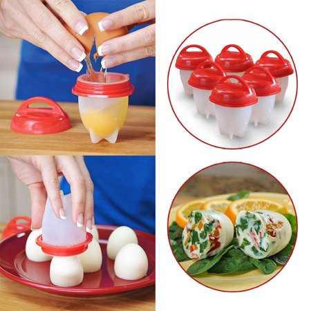 Hard-Boiled Egg Without The Shell Never Peel Maker Cups Egglettes Cooker Kitchen
