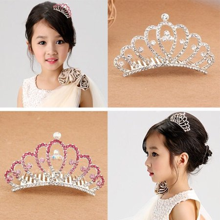 Moderna Wedding Prom Baby Girl Kid Tiny Rhinestone Small Crown Hair Comb Sweet - Baby Tiara