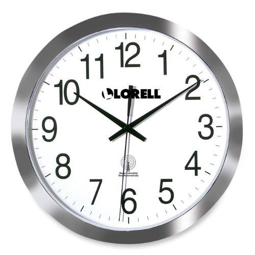 Lorell Radio Controlled Wall Clock - Digital - Quartz - Atomic (LLR60996)