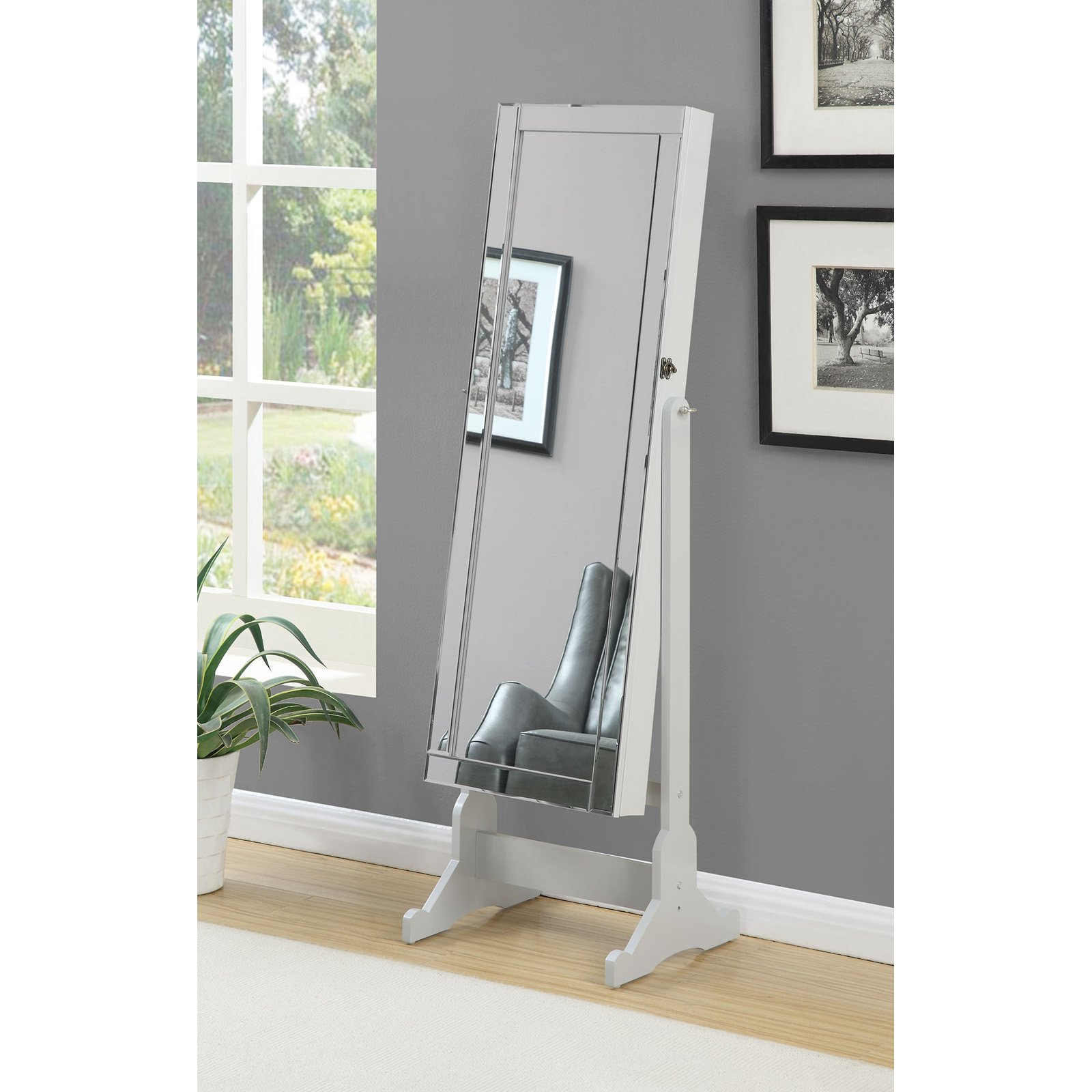 Coaster Company Jewelry Armoire, Dove Grey Frame and Legs