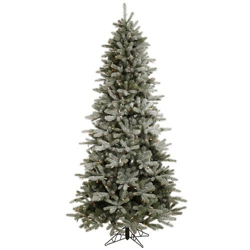 Vickerman Co. Frosted Frasier Fir 4.5' Artificial Christmas Tree with Multicolored Lights