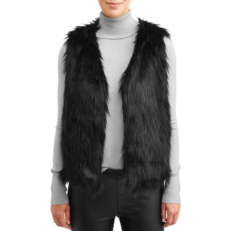 Jason Maxwell Women's Faux Fur Vest Womens Fur Vest