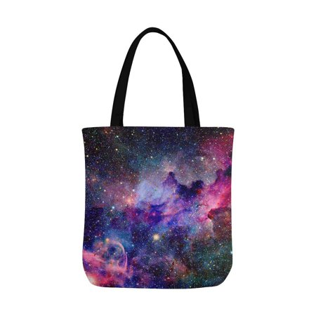 HATIART Nebula Galaxy in Outer Space Canvas Tote Bag Resuable Grocery Bags Shopping Bags Perfect for Crafting Decorating for Women Men Kids - image 3 de 3