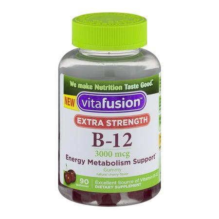 Vitafusion Extra Strength B-12 Gummies Cherry - 90 (B-complex Gummy)