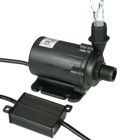 Bluefish DC24V 91.2W 1500L/H Lift 15m Brushless Water Pump with External Controller Waterproof Submersible Pump for Aquarium Fish Tank Tabletop Fountain Pond and Hydroponic