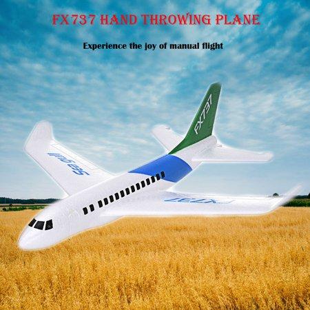Iuhan B737 Foam Throwing Gliding Civil Aviation Inertia Aircraft Toy Hand Launch Model