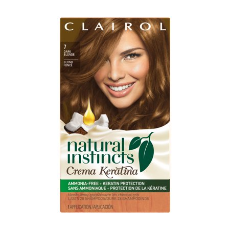 Clairol Natural Instincts Crema Keratina Hair Color Dark Blonde 7